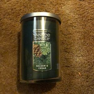 Yankee candle ceader balsam new